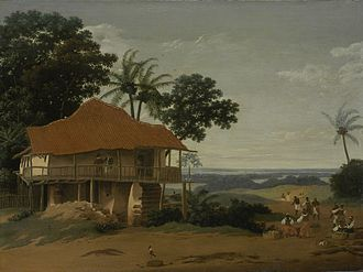 Dutch colonization of the Americas - Frans Post: Brazilian Landscape with a Worker's House, c. 1655 (Los Angeles County Museum of Art)