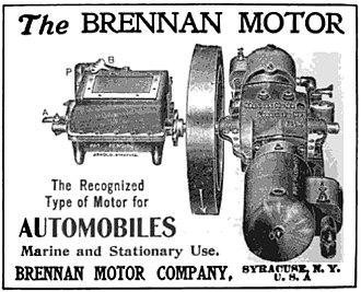 Brennan Motor Manufacturing Company - A 1904 Brennan Motor Company advertisement