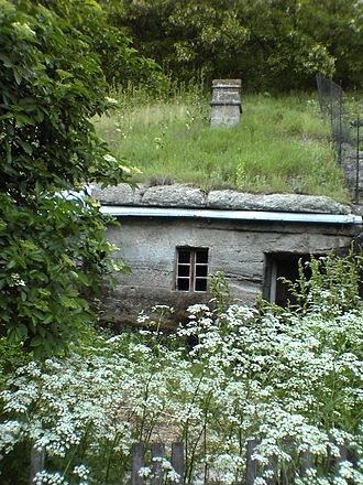 Underground living - An example of an excavated house in Brhlovce, Slovakia
