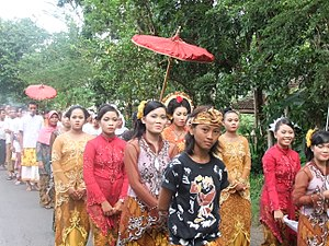 Bride procession Lombok Indonesia.JPG