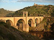 Roman bridge in Alcántara, Spain