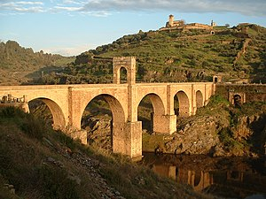 Roman bridge - The Alcántara Bridge, Spain, a masterpiece of ancient bridge building