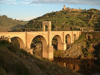 Ancient Roman architecture - The Alcántara Bridge, Spain, a masterpiece of ancient bridge building