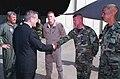 Brig. Gen. Buster Ellis introduces one of his F-16 pilots to Donald H. Rumsfeld.jpg