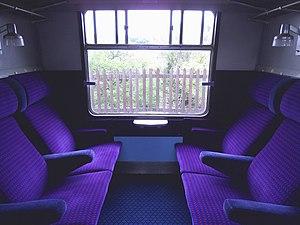 British Rail Class 421 - The interior of First Class cabin aboard a Class 421