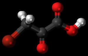 Bromopyruvic acid - Image: Bromopyruvic acid 3D ball