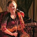 Bronwyn Bird playing the nyckelharpa in concert 2007.jpg