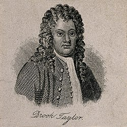 Brook Taylor. Line engraving after R. Earlom. Wellcome V0005740.jpg
