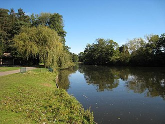 River Blythe - Brueton Park Lake, formed by the damming of the River Blythe at Solihull