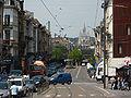 Bruxelles-Eglise Notre Dame de Laeken-Atomium-Vus depuis la place Liedts.jpg