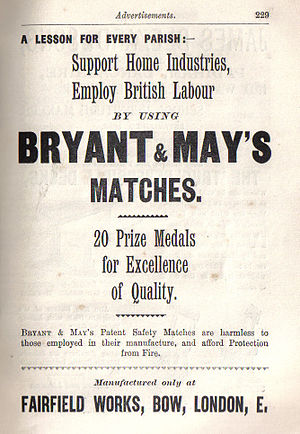 Bryant and May - Advertisement from the Illustrated Guide to the Church Congress 1897