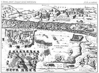 Enea Vico - Enea Vico, The Siege of Buda and Pest, 1542