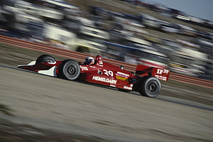 Buddy Lazier - Lazier driving at the 1991 Toyota Monterey Grand Prix at Laguna Seca Raceway.