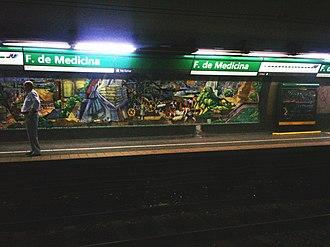 Facultad de Medicina (Buenos Aires Underground) - Image: Buenos Aires Subte Facultad de Medicina 2