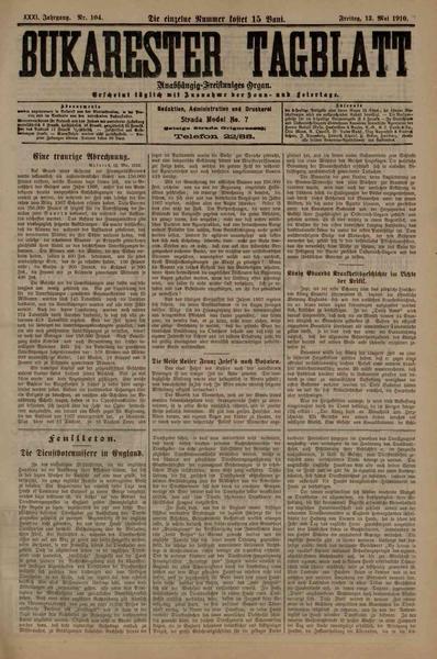 File:Bukarester Tagblatt 1910-05-13, nr. 104.pdf