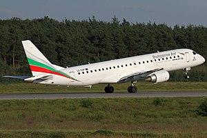 Bulgaria Air - Image: Bulgaria Air Embraer 190AR LZ SOF FRA 2014 08 21