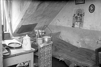 Fritz Haarmann - Police photo of Haarmann's attic room at 2 Rote Reihe, Hanover
