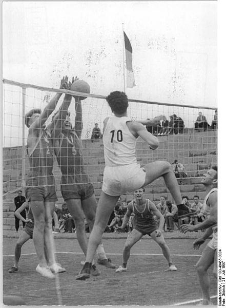 Молодёжный спортивный праздник в Лейпциге. Волейбольный матч