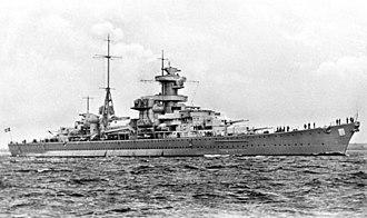 Oslofjord - German cruiser Blücher