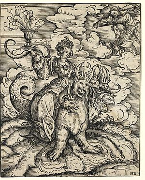"""Hans Burgkmair the Elder """"The Whore of Ba..."""