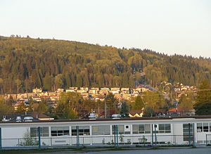 Burnaby Mountain - The western slope of Burnaby Mountain as seen from Burnaby North Secondary School