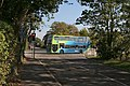 Bus on the Cambridgeshire Guided Busway, in Swavesey, Cambridgeshire, England.jpg