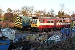 Butterley railway station, Derbyshire, England -train-19Jan2014 (5).jpg