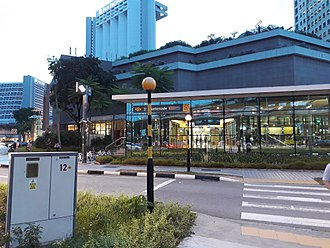 Promenade MRT station - Exit A of Promenade MRT station outside Millenia.