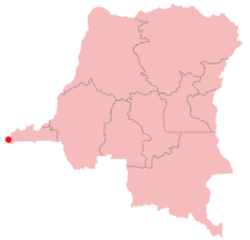 Location of Muanda in the Democratic Republic of the Congo