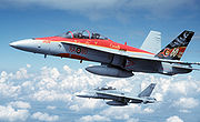 CF-188B 410 Sqn with 60th anniversary paint