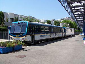 Chemins de Fer de Provence - Railcar X306 in Nice.