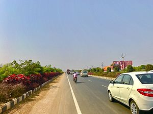 National Highway (India) - APCRDA Greenway - Vijayawada Airport to Vijayawada