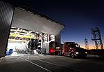 CRS-2 Dragon arrives at hangar.jpg