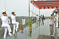 Cadets Marching past the Quarter Deck, saluting the Governor of Kerala Sheila Dikshit.JPG
