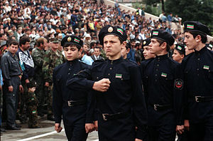Second Chechen War - Cadets of the Ichkeria Chechen National Guard, 1999