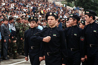 Chechen Republic of Ichkeria - Cadets of the Ichkeria Chechen National Guard in 1999