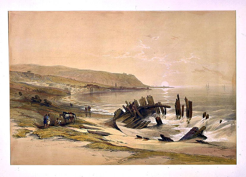 Caiphas looking towards Mount Carmel April 24th 1839, by David Roberts