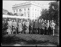 Calvin Coolidge and group outside White House, Washington, D.C. LCCN2016889041.tif