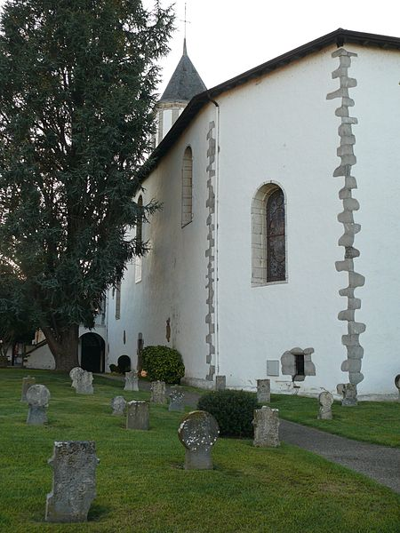 Saint-Laurent's church of Cambo-les-Bains (Pyrénées-Atlantiques, Aquitaine, France).