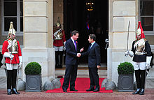Lancaster house treaties wikipedia david cameron greets nicolas sarkozy at lancaster house london for the uk france summit platinumwayz