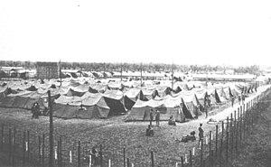 Fossoli di Carpi - Image: Campo attendato per prigionieri inglesi 1942 PG73
