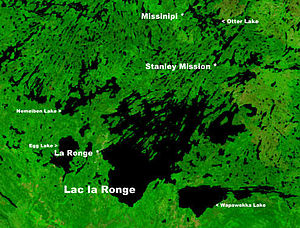 La Ronge - Location of La Ronge on Lac la Ronge