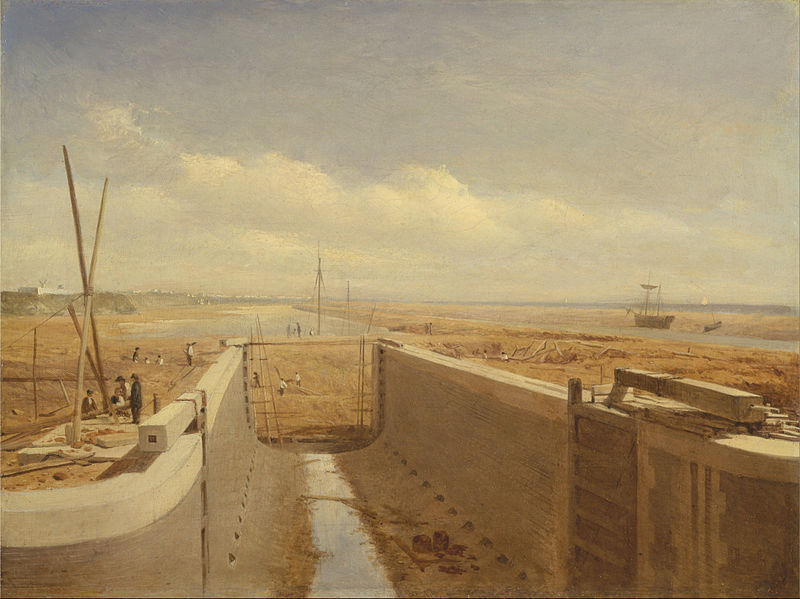 File:Canal under construction, possibly the Bude Canal - Google Art Project.jpg