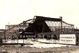 Cannon Coaster - Image: Cannon Coaster Coney Island 1902