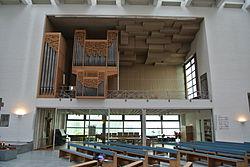 Cantate-Domino-Kirche (Frankfurt-Heddernheim) Orgeleempore.JPG
