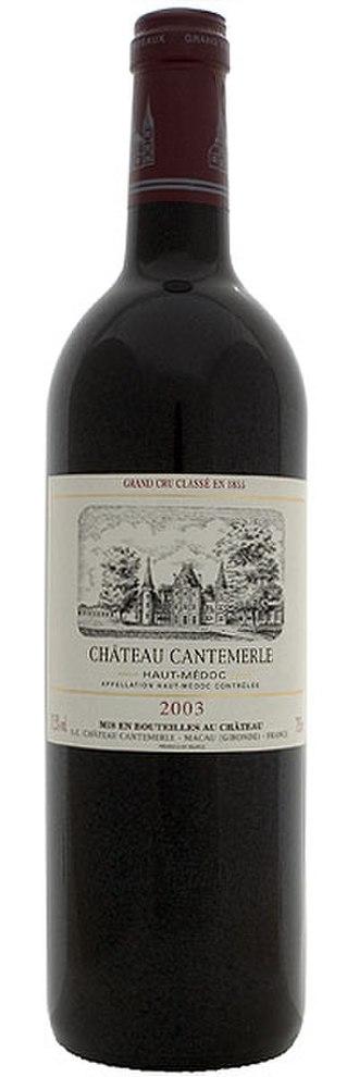 Château Cantemerle - Bottle of Château Cantemerle.