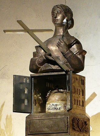 Cathedral of Trier - Helena's head relic in the crypt of Trier cathedral