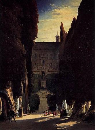 1831 in art - Image: Carl Blechen Tivoli Gardens at the Villa d'Este WGA2247