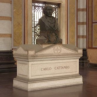 Carlo Cattaneo - Cattaneo's grave at the Monumental Cemetery of Milan