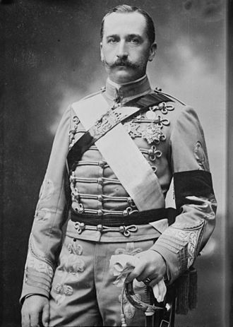 Prince Carlos of Bourbon-Two Sicilies - Formal photo portrait wearing a Spanish Hussar uniform, 1913